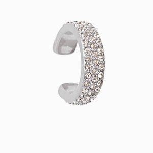 Stella dot silver pave ear cuff